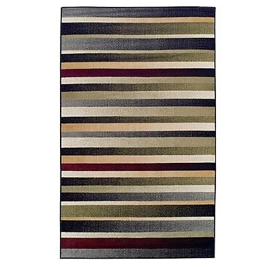 Ebern Designs Azaleh Corona Black/Gray Area Rug; 4' x 6'