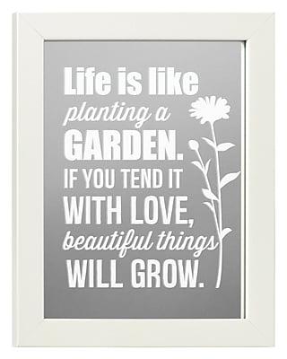 Winston Porter Bradlee Life is Like a Garden Accent Mirror