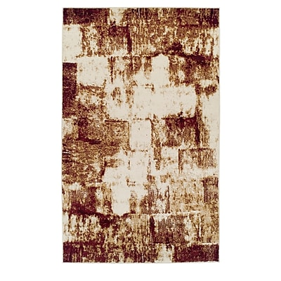 Ebern Designs Azaleh Distressed Film Maroon Area Rug; 8' x 10'