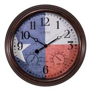 August Grove Zaria Texas Flag 15'' Wall Clock