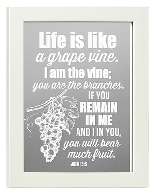 Winston Porter Bradlee Life is Like a Vine Accent Mirror