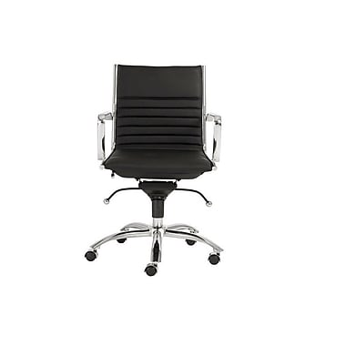 Plata Import Euro Office Chair Low Back Black L 6002 2