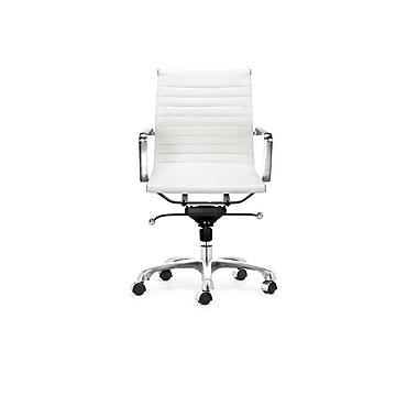 Plata Import Euro Office Chair, Low Back, White (L-6002-2-WHITE)