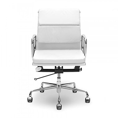 Plata Import Lark Office Chair, Low Back, White (LS-1021-WHITE)