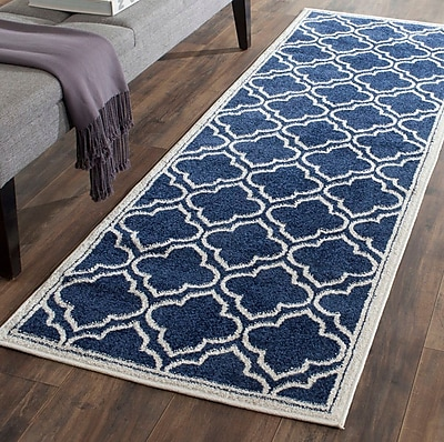 Charlton Home Carman Blue/Beige Indoor/Outdoor Area Rug; Rectangle 8' x 10'