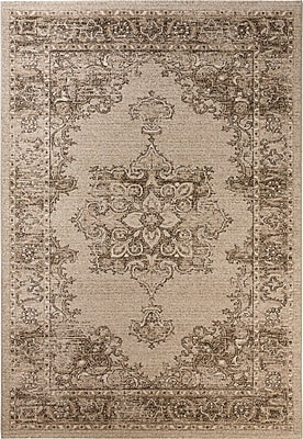 Darby Home Co Carmel Beige & Brown Area Rug; Rectangle 3' x 5'