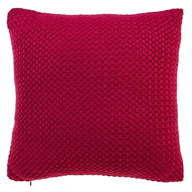 Gracie Oaks Shant Throw Pillow; Red