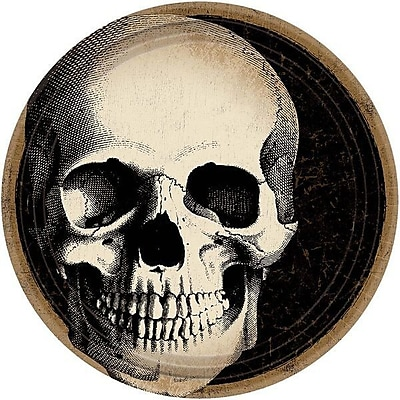 Amscan Halloween Skull Paper Appetizer Plate (Set of 60)