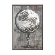 Alcott Hill 'Rustic Globe' Framed Graphic Art Print