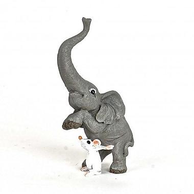 August Grove Jacobus Polyresin Elephant w/ Mouse Figurine