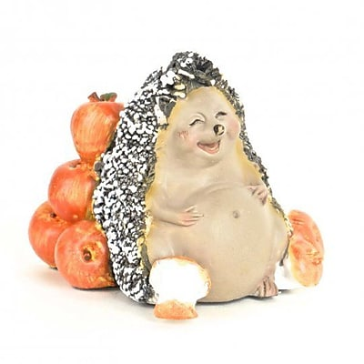 August Grove Koppel Polyresin Hedgehog w/ Apples Figurine