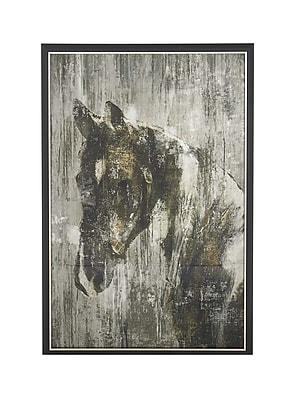 Alcott Hill 'Rustic Horse' Framed Graphic Art Print