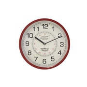 Astoria Grand Bond Modern Iron Round Fabric 14'' Wall Clock