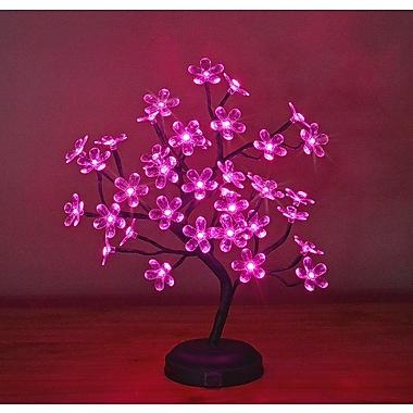 Lightshare LED 36 Light Crystal Flower LED Bonsai Tree; Pink