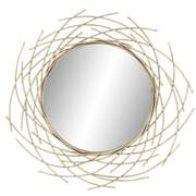 Bayou Breeze Harpswell Modern Metal and Fir Wood Overlapping Arc Accent Mirror