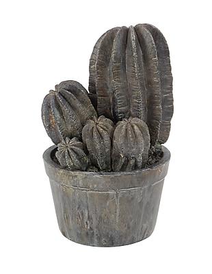 Bungalow Rose Lone Tree Rustic Clustered Cactus Polystone Sculpture w/ Pot
