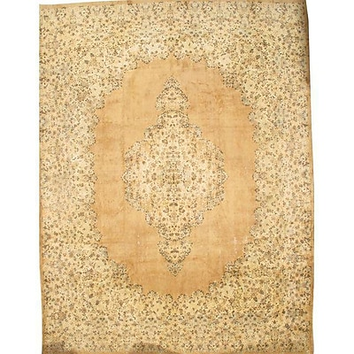 Pasargad NY Persian Hand-Knotted Wool Ivory/Beige Area Rug