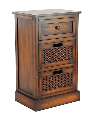 Bay Isle Home Bryce Rustic Wood 3 Drawer Accent Chest