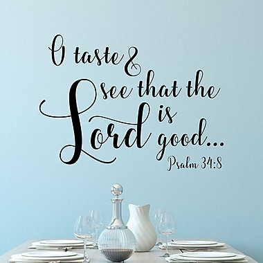 Belvedere Designs LLC The Lord Is Good Psalm 34:8 Wall Decal