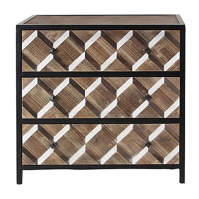 Brayden Studio Wilke Contemporary Wooden Rectangular 3 Drawer Accent Chest