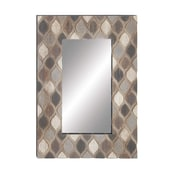 Bungalow Rose Neihart Rustic Rectangular Wood and Glass Accent Mirror