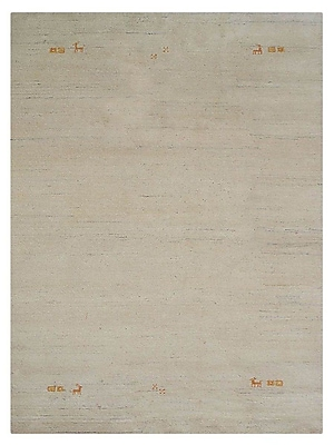 Bloomsbury Market Clarkedale Hand-Knotted Wool Beige Area Rug