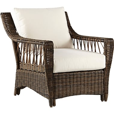 South Sea Rattan Saint John Deep Seating Chair w/ Cushion; Sand