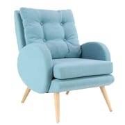 Corrigan Studio Kristie Modern Wood and Fabric Cushioned Armchair