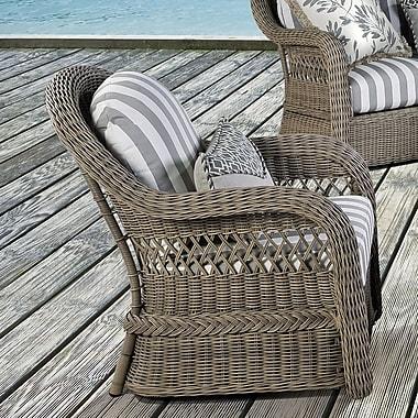 South Sea Rattan Arcadia Deep Seating Chair w/ Cushion; Peridot