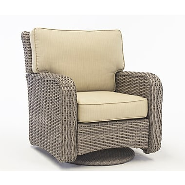 South Sea Rattan St Tropez Swivel Glider w/ Cushion; Aquamarine