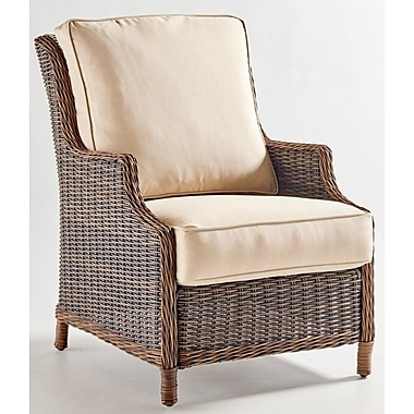 South Sea Rattan Barrington Chair w/ Cushion; Peridot