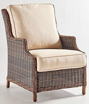 South Sea Rattan Barrington Chair w/ Cushion; Jockey Red