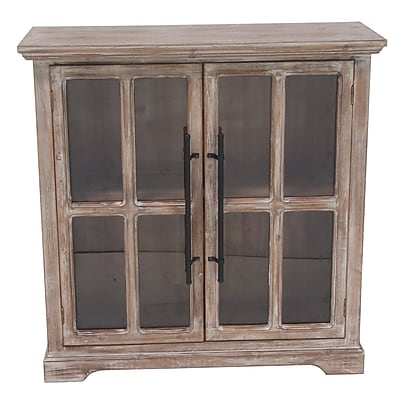 Darby Home Co Bratton Heights Traditional Wooden Rectangular 2 Door Accent Cabinet