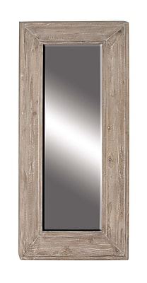 Darby Home Co Ashendon Rustic Fir and Pine Wood Full Length Mirror