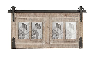 Gracie Oaks Waldwick 4-Opening Wood and Iron Wall Picture Frame