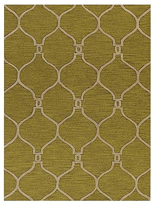 Everly Quinn Leevell Hand-Tufted Green Area Rug