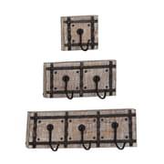 Gracie Oaks Casula 3 Piece Wall Mounted Coat Rack Set