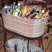 Tablecraft 3 Piece Brickhouse Beverage Tub Set by