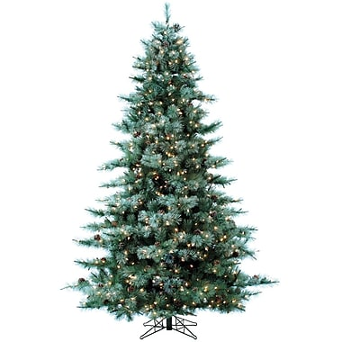 The Holiday Aisle Glistening 108'' Green Pine Artificial Christmas Tree w/ 1350 Clear/White Light