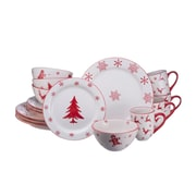 The Holiday Aisle Winterfest 16 Piece Dinnerware Set, Service for 4