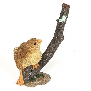August Grove Hutchinson Polyresin Chick on the Branch Figurine