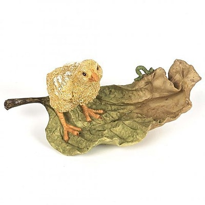 August Grove Hyde Park Polyresin Chick on the Leaf Figurine