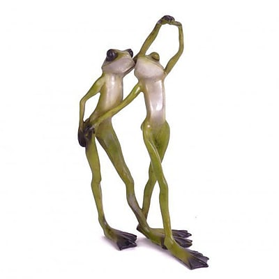 August Grove Hydetown Polyresin Dancing Frogs Figurine