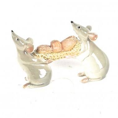 August Grove Lakewood Polyresin Little Mice Caring Grains in Peanut Shell Figurine
