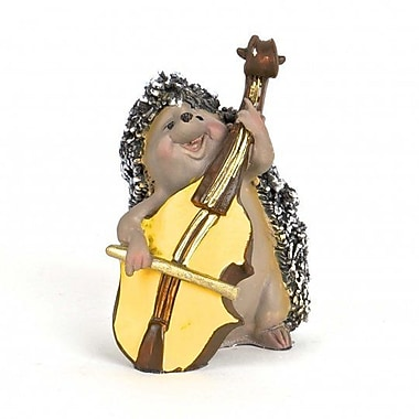 August Grove Knowlton Polyresin Hedgehog Playing Contrabass Figurine