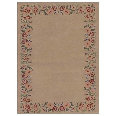 August Grove Mariya Floral Hand-Tufted Wool Cream Area Rug