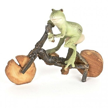 August Grove Jermyn Polyresin Frog on the Bicycle Figurine