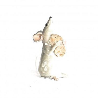 August Grove Langhorne Polyresin Little Mouse w/ Grain Figurine