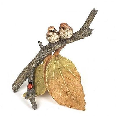 August Grove Hodgeman Polyresin Bird Sitting on a Branch Figurine