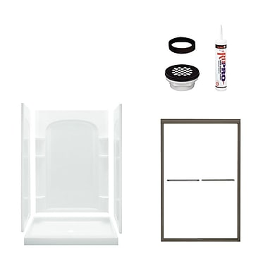 Sterling by Kohler Ensemble Curved Shower Package; Oil Rubbed Bronze/White